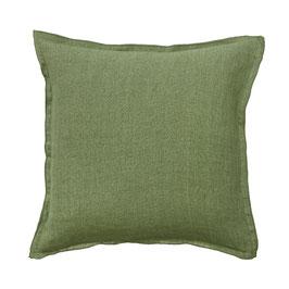 50 x 50 grasgrün Leinen Kissenbezug BUNGALOW
