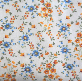 Kornblumen gelb blau auf gris
