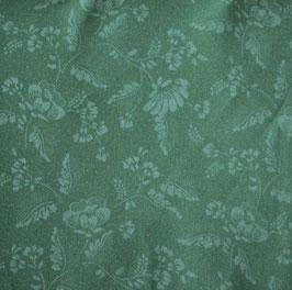 dunkelgrün Blumen allover Dirndlstoff