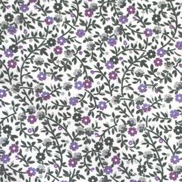 dunkelgrün lila Blümchen