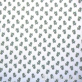 weiß / grün Trachtenblümchen