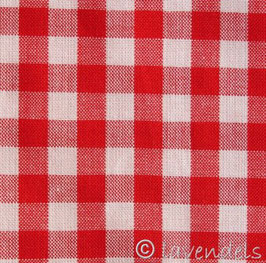 rot groß-kariert Baumwollstoff