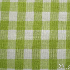 hellgrün groß-kariert Baumwollstoff