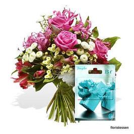 """-118 - """"Blumen mit Douglas-Geschenkkarte"""""""