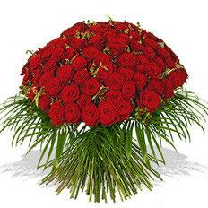 - 121 -  Rosenmeer 101 rote Rosen