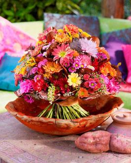 - 168 - Bunter Chrysanthemenstrauß