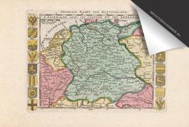 Duitsland-Oude Kaart - Inductie Beschermer