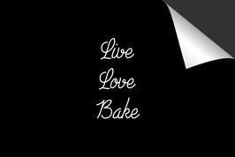 Quote - Live Love Bake - Inductie Beschermer