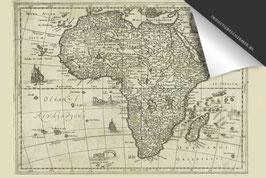Afrika(zw)-Oude Kaart - Inductie Beschermer