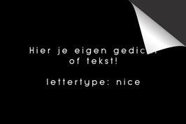 Eigen Tekst - 'Nice' - Inductie Beschermer