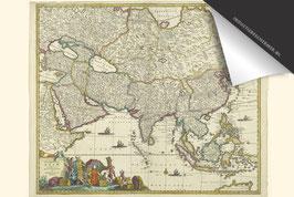 Azië-Oude Kaart - Inductie Beschermer
