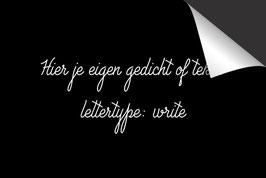 Eigen Tekst - 'Write' - Inductie Beschermer