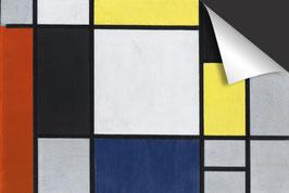 Piet Mondriaan - Compositie met geel rood zwart blauw grijs Inductie Beschermer