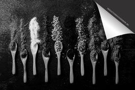 Lepels kruiden Zwartwit Inductie Beschermer