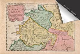 Marokko-Oude Kaart - Inductie Beschermer