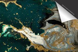 Marmer Smaragd Goud Zilver Inductie Beschermer
