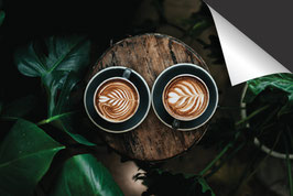Koffie & Monstera Inductie Beschermer