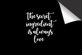 Quote - The Secret Ingredient - Inductie Beschermer