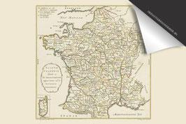 Frankrijk-Oude Kaart - Inductie Beschermer