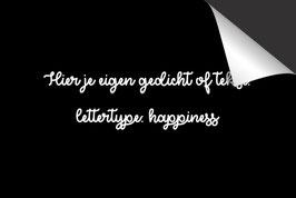 Eigen Tekst - 'Happiness' - Inductie Beschermer