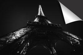 Stad Parijs Eiffeltoren - zwart wit