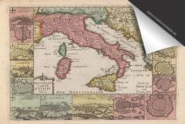 Italië-Oude Kaart - Inductie Beschermer