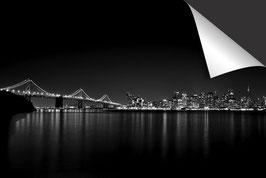 Stad San Francisco Nacht - zwart wit
