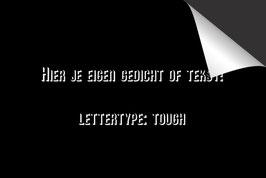 Eigen Tekst - 'Tough' - Inductie Beschermer