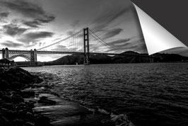 Stad San Francisco Golden Gate - zwart wit