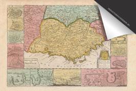 Provence-Oude Kaart - Inductie Beschermer