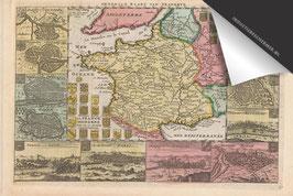 Frankrijk (steden)-Oude Kaart - Inductie Beschermer