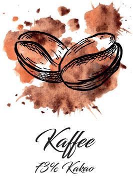 Zartbitterschokolade 73% Kakao mit Kaffee  100g