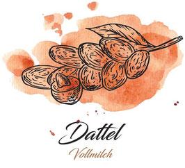 Vollmilchschokolade 40% Kakao mit Datteln  100g