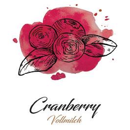 Vollmilchschokolade 40% Kakao mit Cranberry 100g