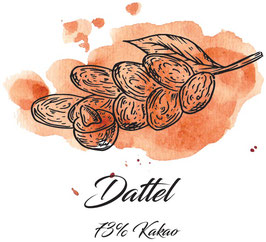 Zartbitterschokolade 73% Kakao mit Datteln  100g