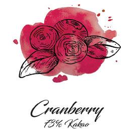 Zartbitterschokolade 73% Kakao mit Cranberry 100g