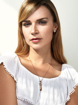 [GS02] Beton Halskette Kette - 925 WHITE ROSÉ