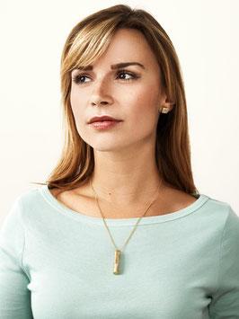 [GS06] Beton Halskette Kette - 925 GREY GOLD