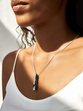[GS05] Beton Halskette Kette - 925 BLACK SILVER