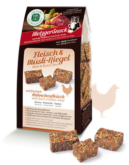 Fleisch & Müsli-Riegel - Superfoods für Superdogs