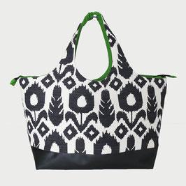 Shopper TGM Tissu Inca - N&B