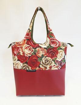 NewVille MM Tissu Roses rouges
