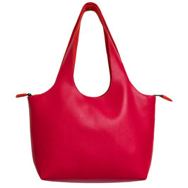 Shopper PM Skaï rouge