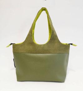 Shopper PM Skaï vert bronze