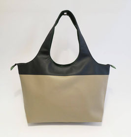 Shopper GM  Skaï  beige + noir