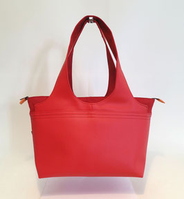 Shopper MM Skaï rouge