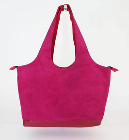 Shopper MM Alcantara Fuchsia