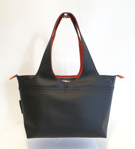 Shopper MM  Skaï 2 Noir