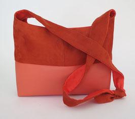 Bandoulière GM SkaÏ et Alcantara orange