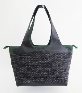 Shopper MM Tissu Noir